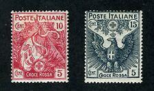 Italy, Scott #B1 & B2,  Flag & Eagle of Italy, 1915, Mint Hinged