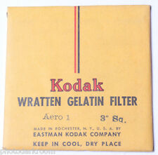 "Kodak Aero 1 Wratten Gelatin Filter - 76mm x 76mm 3x3"" Square - NEW Old Stock"