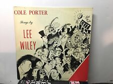 "LEE WILEY - Cole Porter Songs ~LIBERTY MUSIC SHOP 10"" 1003 {nm orig} - RARE"