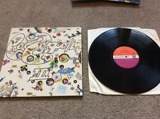 Very Rare Led Zeppelin III 3 1st Press 'Do what Thou Wilt' Grant, Vinyl record
