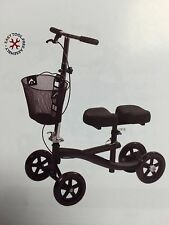 Roscoe Steerable Turning Knee Scooter, Walker, Black