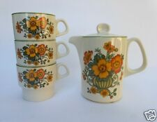 Villeroy & Boch Small Coffee Tea Pot and 3 Stacking Cups Early Cottage Design