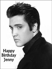 A4 Elvis Presley Personalised Icing Sheet Cake Topper Edible Decoration