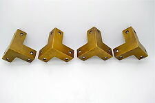 "Vintage brass corner protector . 50mm long x 19mm wide "". Antique, cupboard ches"