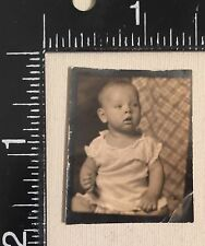 Vintage Photograph Photo Booth Little Baby Great Pose 1940s