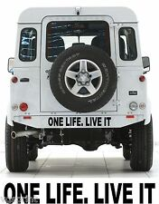 ONE LIFE LIVE IT 4x4 LAND ROVER STICKER DECAL ANY SIZE CHOICE OF COLOURS