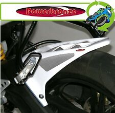 New Powerbronze Rear Hugger White With Silver Mesh Yamaha YZFR125 YZF-R125 11