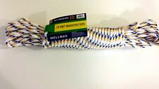 """MULTIPURPOSE 1/4"""" BRAIDED POLY ROPE 50ft, Utility Outdoor Camping Hiking Cord"""