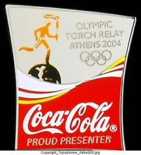 OLYMPIC PINS ATHENS 2004 COKE COCA COLA PP TORCH RELAY