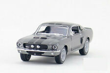 Kinsmart 1:38 1/38 1967 MUSTANG Ford Shelby GT500 Sports car Diecast model Gray
