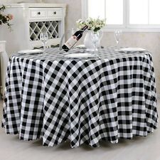 100% Polyester Gingham Check Dining Tablecloth Cloth Linens For Home Party