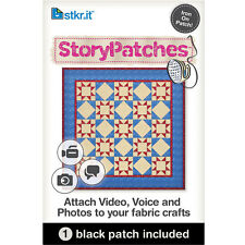 STORY PATCHES~TURN CRAFTS TO KEEPSAKES~QR CODE~IRON ON~ATTACH AUDIO VIDEO PHOTO