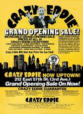 Crazy Eddie Grand Opening Poster 1981  11 x 14  Giclee print