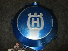 Husqvarna FC350 2014-2015 Used Powerparts billet alloy blue clutch cover KT4779