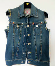 EXQUISITE!TRUE RELIGION SLIM FIT WAISTCOAT,JACKET