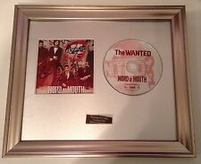 SIGNED/AUTOGRAPHED THE WANTED - WORD OF MOUTH FRAMED PRESENTATION. RARE SOLD OUT