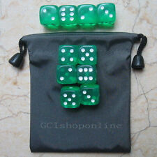 Lot 10  Green 6 Sided D6 16mm RPG D&D D20 Game Dice