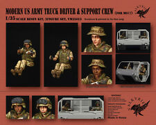 1/35 Scale Resin Figure kit Modern US Army Truck Driver + Support Crew for M977
