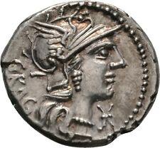 Lanz ROMA ARGENTO denar Gragulus ROM Jupiter blitzbuendel QUADRIGA $$fwh597