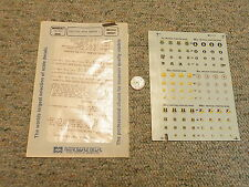 Microscale  decals 1/72 72-373 Tactical Wing Badges I 8th 21st 49th 33rd    H62