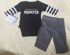 Carters Baby Mommy's Little Monster Haloween 2-Piecce Pants Set Newborn