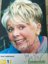 6x4 Hand Signed Photo of Emmerdale's Pearl Ladderbanks - Meg Johnson