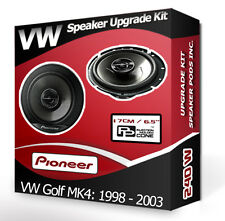 VW Golf MK4 Rear Door Speakers Pioneer car speakers + adapter pods 240W