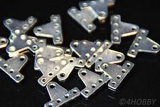 20 Mini-Lochplatten T-Form 20x15mm 5-Loch Flachverbinder Plättchen Lochplättchen