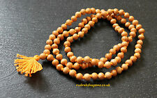 White fragnant wood Japa Mala 108 Bead Meditation Yoga Rosary Buddhist Necklace