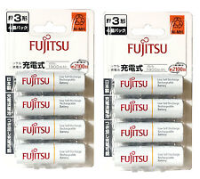 AA Size Battery Fujitsu Rechargeable 1900mAh AA Eneloop Batteries Made in Japan