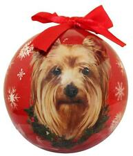 Yorkie Shatter Proof Ball Ornament Dog Holiday Gift Christmas Tree Decoration