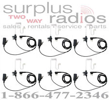 QTY 6 Police Headsets Motorola CP200 CP185 PR400 DTR410 DTR550 DTR650 CP125