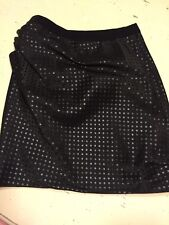 Marc Jacobs Mainline Black Ruched Mini Skirt With Metallic Dots 10 USA
