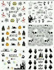 Halloween Nail decals (water decals) Set of 6 Halloween nail art (as shown)
