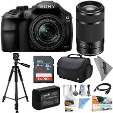 Sony Alpha A3000 DSLR Camera 18-55mm 32GB Accessories Kit 55-210mm Lens, Tripod