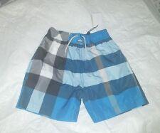 NWT Burberry Children Boys Mini Jeffries Swim Trunks Blue 6Y $95