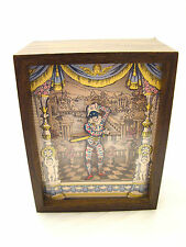 RARE REUGE HARLEQUIN & COLUMBINE Swiss Shadow Music Box MENUET MOZART INGRID