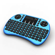 keyboard Rii mini i8+blue WITH BACK-LIT touchpad mouse for smart TV/Android BOX