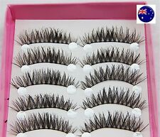 5P Natural Long Extension handmade Thick Cross Fake False Eyelashes eye lashes