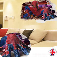 3D SPIDERMAN Wall Sticker Vinyl Art Home Bedroom MARVEL Poster Avengers Ironman