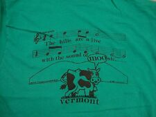 Vintage Tourist Vermont Cow Moo Music Notes Hills are Alive T Shirt S
