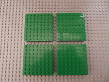 4 LEGO 8 x 8 (16 x 16) Stud Square Thick Baseboard Brick Green Part 4201