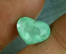 Fantastic 3.13Cts Heart Natural Muzo Green Colombia Emerald , G19 See Video