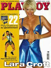 Playboy August/08/1999  Nell McAndrew als LARA CROFT