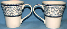 "Pair of 222 Fifth Star Of David Porcelain Coffee Tea Cup Mug 3 3/8"" T X 4 3/8""W"