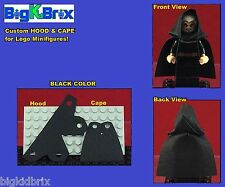 HOOD & CAPE (BLACK) Custom made for LEGO Minifigures PRICE gets you 2 SETS #3