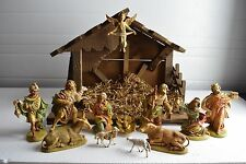 + Older Convent Nativity Set w/ Manger (Made in Italy) + + (#417) + chalice co.