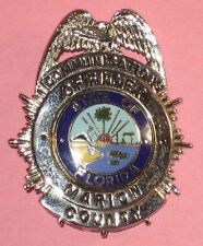 Old Obsolete Marion Co. Florida FL Fla Communications Officer Badge - Not Police