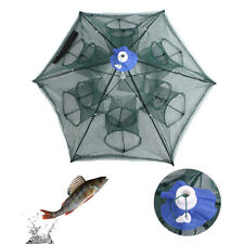 6 Side/Hole Automatic Foldable Fishing Net Shrimp Cage Nylon Crab Fish Trap Cast