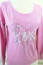 Hidden Heart Nordstrom Top Pink Lace Heart Silver Sequin LOVE Valentine's Day S